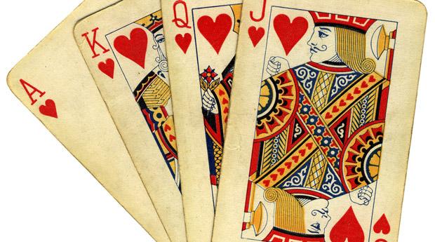 Черви карты игральные